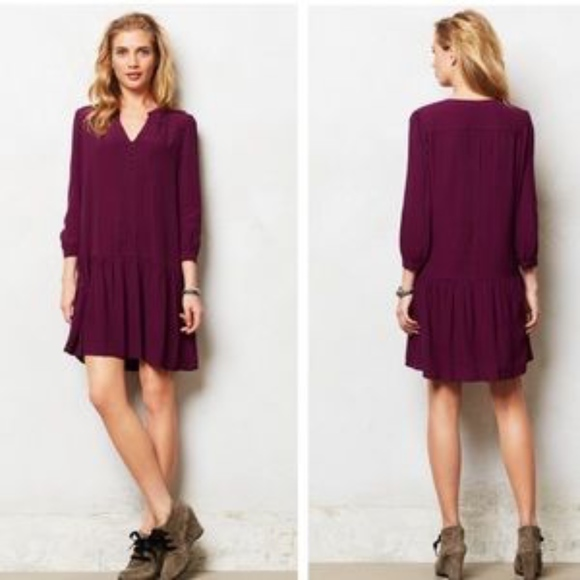 ffd592bee3198 Anthropologie Dresses & Skirts - Anthropologie Maeve Galina Purple Dress